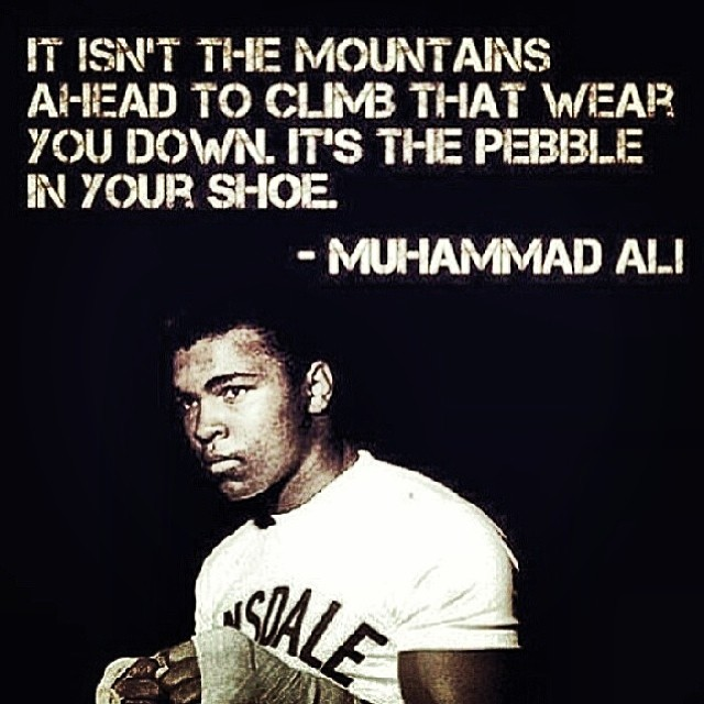 Climbs quote It isn't the mountains ahead to climb that wear you down. It's the pebble in you