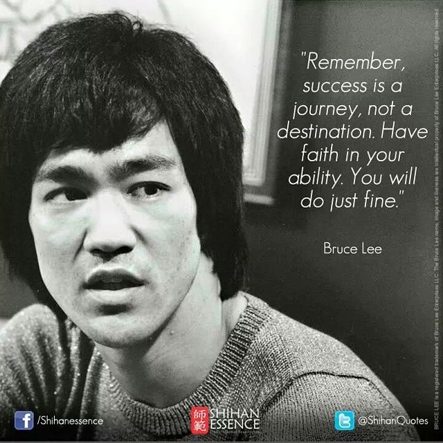 Fine quote Remember, success is a journey, not a destination. Have faith in your ability. Y
