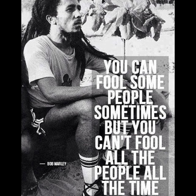 Picture quote by Bob Marley about people