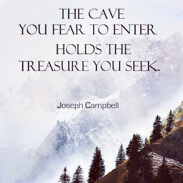 Picture quote by Joseph Campbell about fear