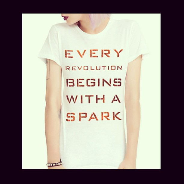 Evolution quote Every revolution begins with a spark.