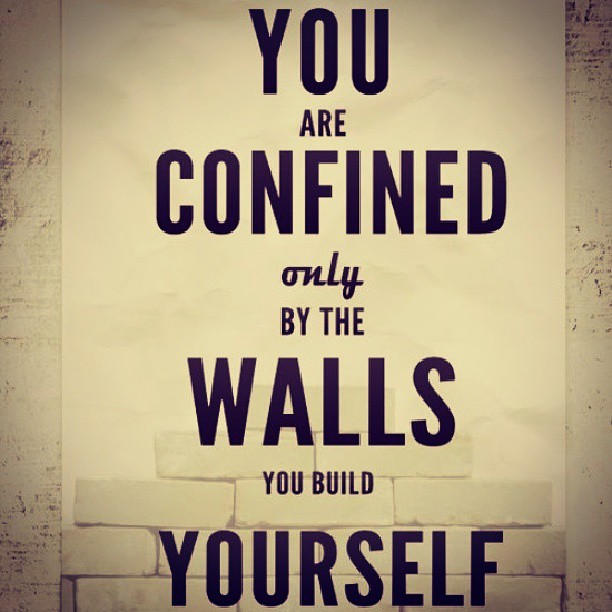 Occupy wall street quote You are confined only by the walls you build yourself.