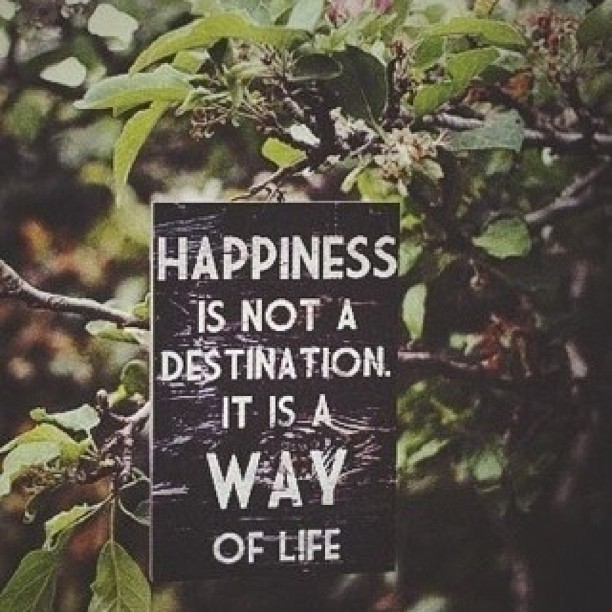 Destined quote Happiness is not a destination, it is a way of life