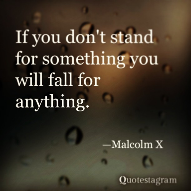 If You Dont Stand For Something You Will Fal Malcolm X Image
