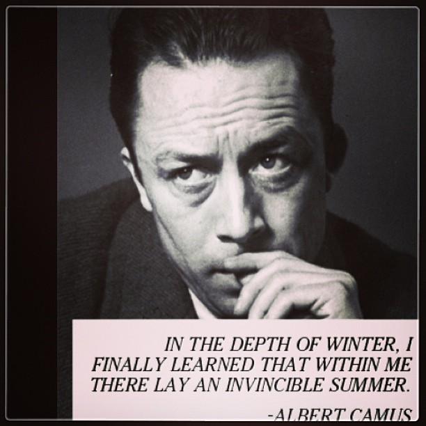 Summer camp quote In the depth of winter, I finally learned that within me there lay an invincible