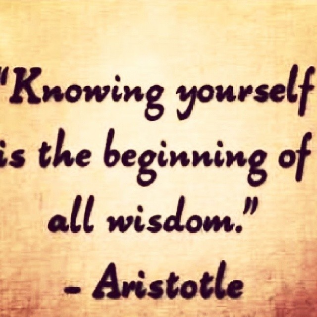 Aristotle - Knowing yourself is the beginning of all ...