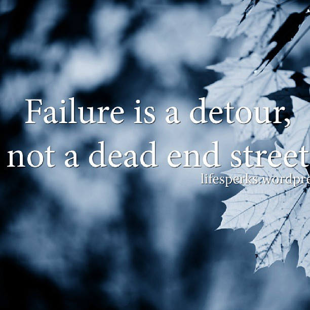 Occupy wall street quote Failure is a detour, not a dead end street