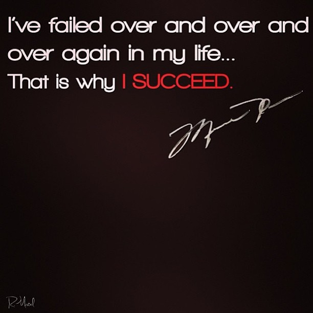Life success quote I've failed over and over and over again in my life... Thats why i succeed