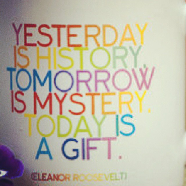 Yesterday Is History Tomorrow Is M Eleanor Roosevelt Time Image