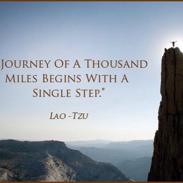 Simplicity quote Journey of a thousand miles begins with a single step.