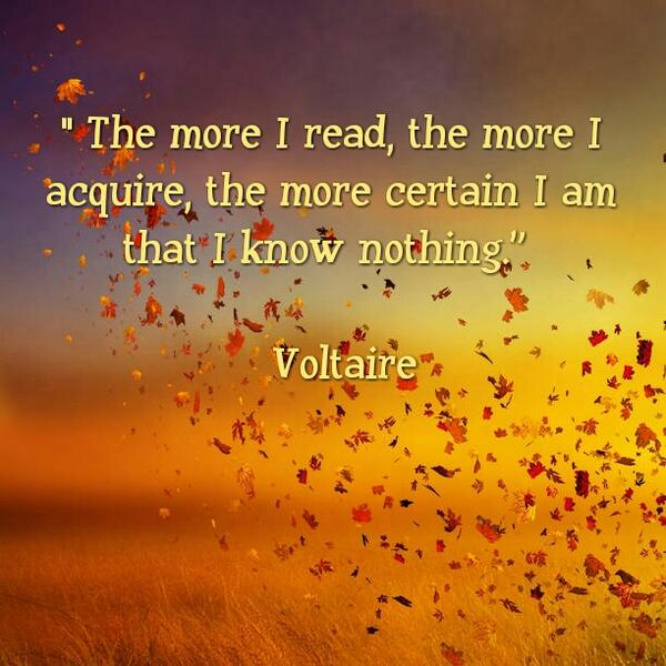 Picture quote by Voltaire about wisdom