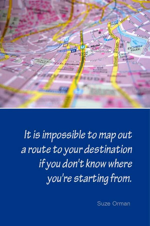 Routed quote Its impossible to map out a route to your destinations if you don't know where y