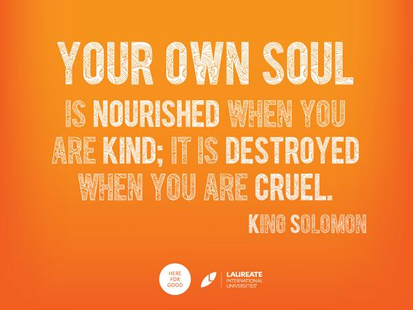 Picture quote by King Solomon about soul