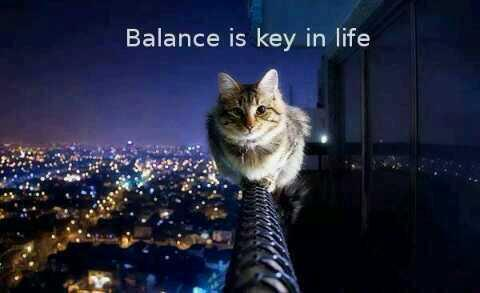 Picture quote about balance