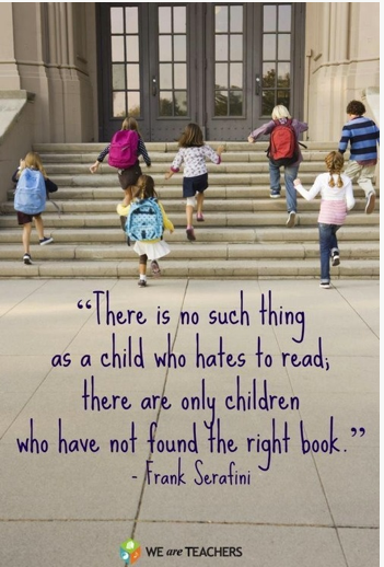 Children reading quote  There is no such thing as a child who hates to read. There are only children wh