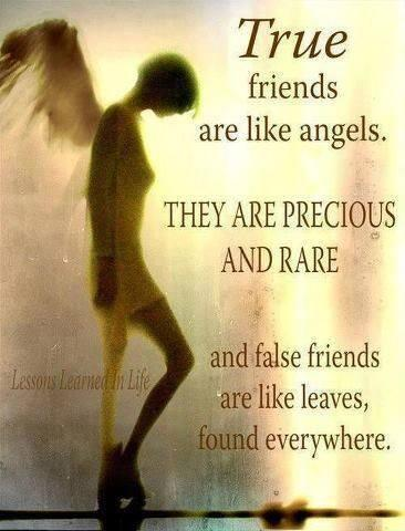 Angeles quote True friends are like angels. They are precious and rare. False friends are like