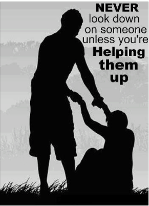 Picture quote about helping