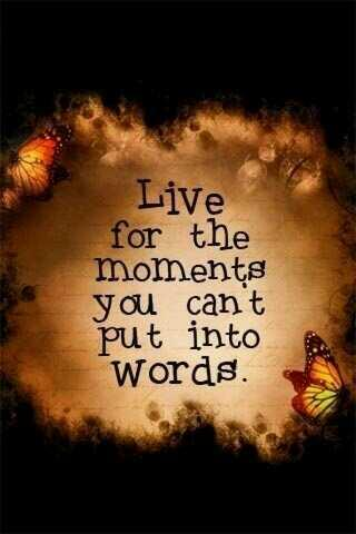 Moments quote Live for the moments you can't put into words