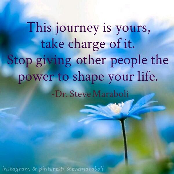 Shapes quote This journey is yours, take charge of it. Stop giving other people the power to