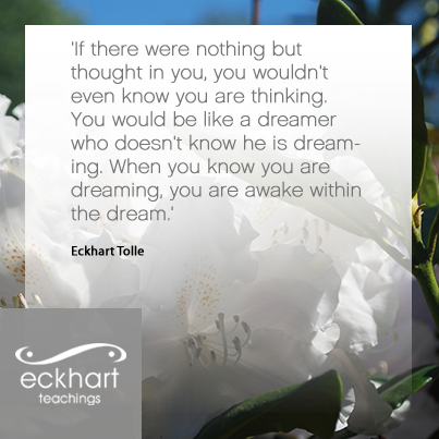 Dreamer quote If there we nothing but thought in you, you wouldn't even know you are thinking.