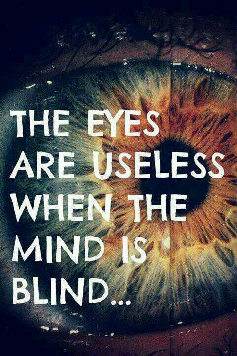 Useless quote The eyes are useless when the mind is blind...