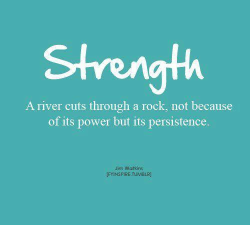 Punk rock quote A river cuts though a rock, not because of its power, but its persistence