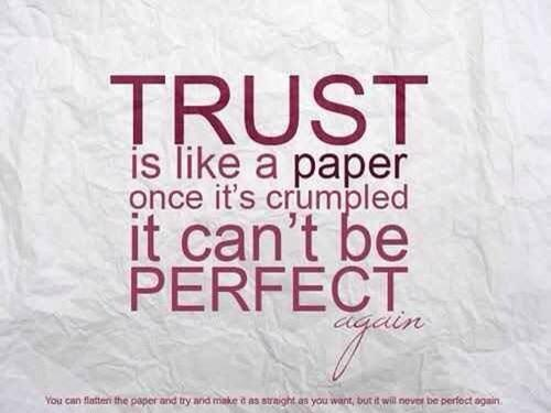 Picture quote about trust