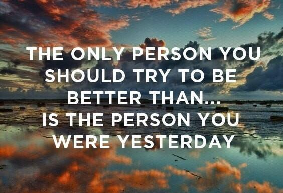 Honey bee quote The only person you should try to be better than is the person you were yesterda