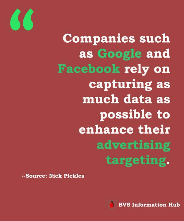 Companies such as Google and Facebook rely on capturing as much data as possible to enhance their advertising targeting. -