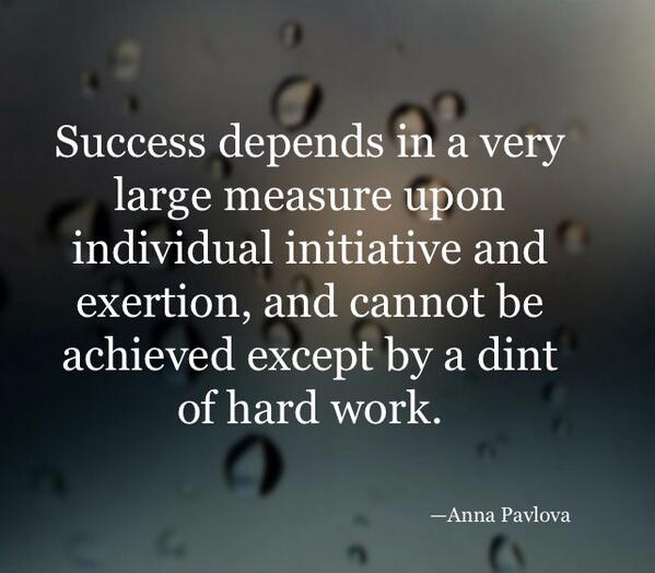 Initiative quote Success depends in a very large measure upon individual initiative and exertion,