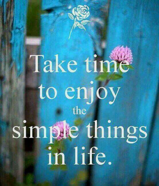 Simplicity quote Take time to enjoy the simple things in life
