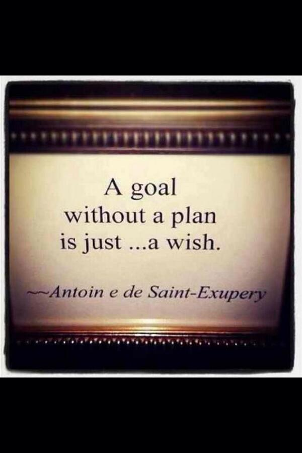 Planning quote A goal without a plan is just ... a wish.