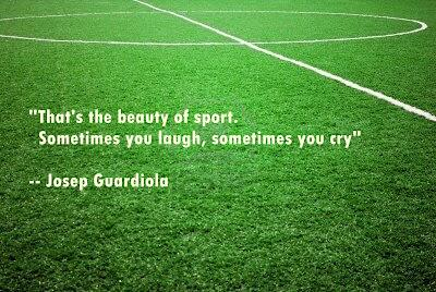 College football quote That's the beauty of sport. Sometimes you laugh, sometimes you cry.