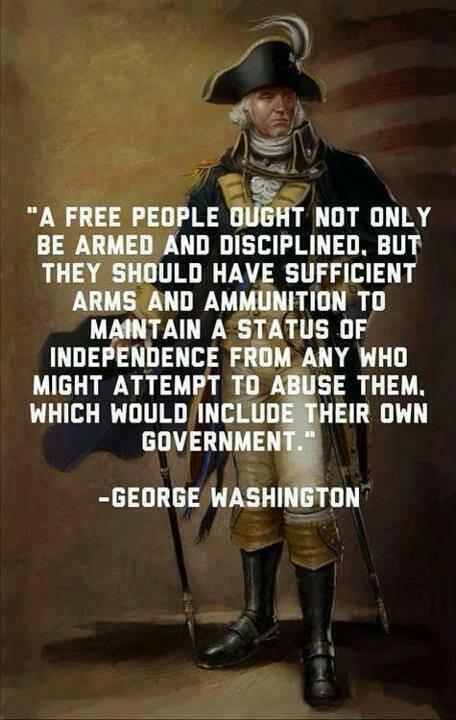 Constitutional government quote A free people ought not only be armed and disciplined, but they should have suff