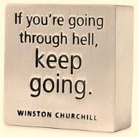Picture quote by Winston Churchill about hell