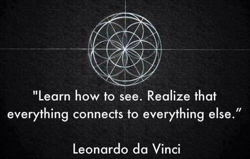 Colleges universities quote Learn how to see. Realize that everything connects to everything else!