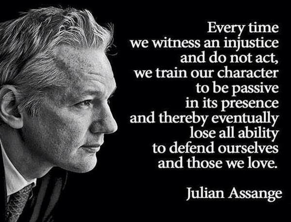 Injustice quote Every time we witness an injustice and do not act, we train our character to be