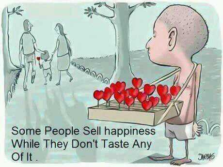 Taste quote Some people sell happiness while they don't taste an of it.