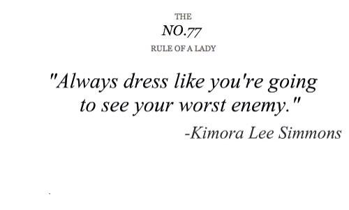 Picture quote about dressing
