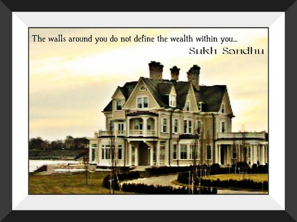 Walls quote The walls around you do not define wealth within you...