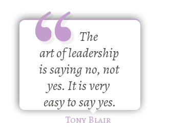 Yes or no quote The leadership is saying no, not yes. It is very easy to say yes.