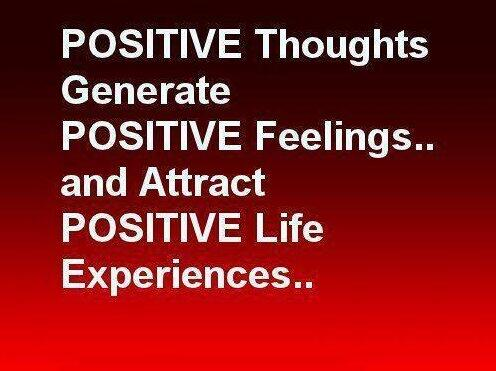 Positive thoughts quote Positive thoughts generate positive feelings and attract positive life experienc