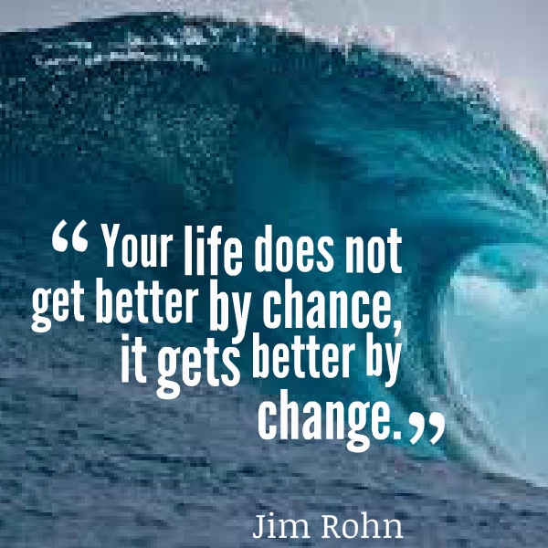Get better quote Your life does not get better by chance, it gets better by change.