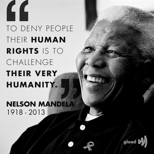Human rights quote To deny people their human rights is to challenge their very humanity.