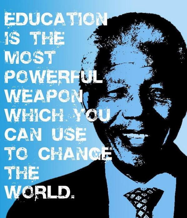 Picture quote by Nelson Mandela about education