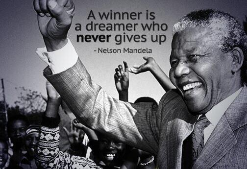 Winners quote A winner is a dreamer who never gives up.