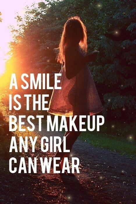 Wearing a mask quote A smile is the best makeup any girl can wear.