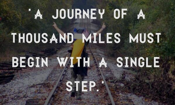 Picture quote about journey