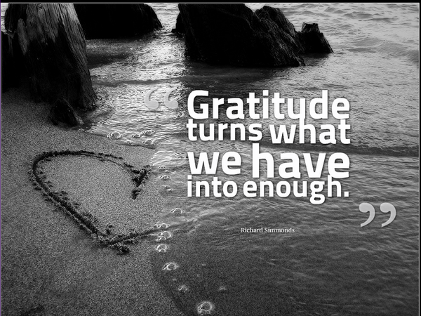 - Gratitude turns what we have into enough. - Image Quote