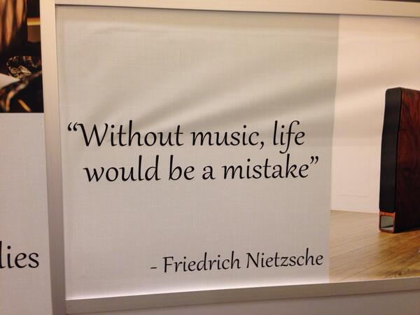 Blues music quote Without music, life would be a mistake.